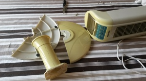 Fan with yellowing housing.