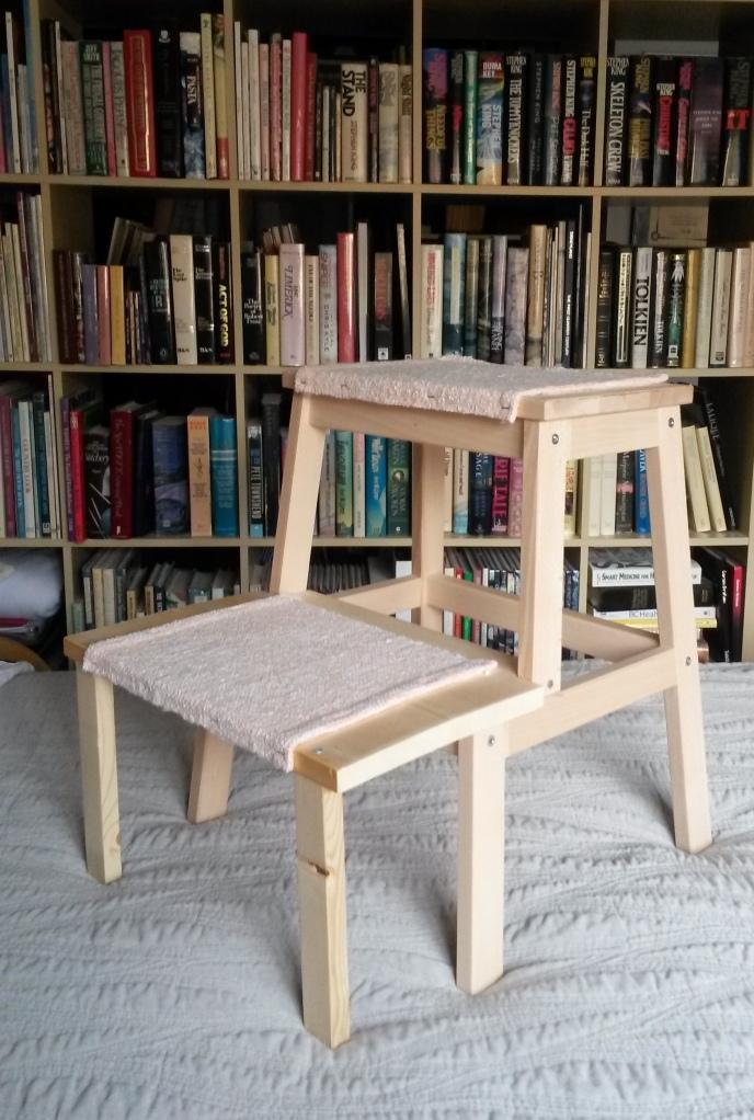 Dog Steps from Ikea BEKVÄM step stool
